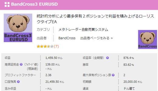 BandCross3 EURUSD検証開始しました。