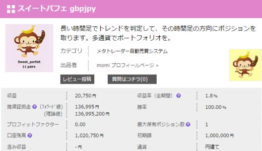 スイートパフェ gbpjpy 検証開始しました。