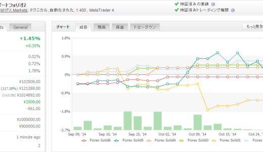 Forex Solid 2014年10月月間収支