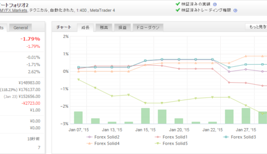 Forex Solid 2015年1月月間収支